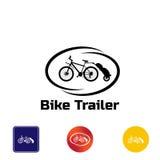 Ρυμουλκό ποδηλάτων λογότυπων Στοκ Φωτογραφίες