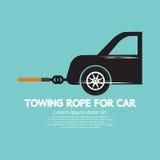 Ρυμουλκώντας σχοινί για το αυτοκίνητο Στοκ φωτογραφία με δικαίωμα ελεύθερης χρήσης