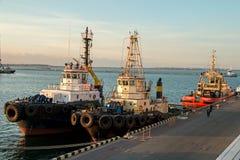 Ρυμούλκηση σκαφών θάλασσας Στοκ εικόνες με δικαίωμα ελεύθερης χρήσης