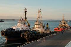 Ρυμούλκηση σκαφών θάλασσας Στοκ φωτογραφία με δικαίωμα ελεύθερης χρήσης