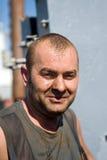 Ρυπαρό πρόσωπο του εργαζομένου Στοκ εικόνα με δικαίωμα ελεύθερης χρήσης