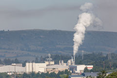 Ρυπογόνος αέρας εργοστασίων Στοκ Εικόνα