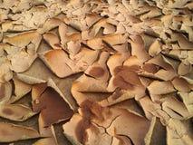 Ρωγμές και μια φλούδα του αμμώδους χώματος Στοκ φωτογραφία με δικαίωμα ελεύθερης χρήσης