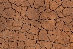Ρωγμές σε ένα ξηρό χώμα στοκ εικόνες με δικαίωμα ελεύθερης χρήσης