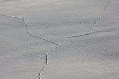 Ρωγμές στην άσπρη άμμο Στοκ Φωτογραφία