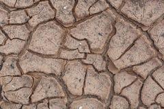 Ρωγμές στο ξηρό χώμα. Στοκ φωτογραφίες με δικαίωμα ελεύθερης χρήσης