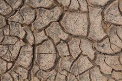 Ρωγμές στο ξηρό χώμα. Στοκ Εικόνες