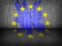 ρωγμή Ευρώπη διανυσματική απεικόνιση