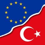 Ρωγμή μεταξύ της Ευρώπης και της Τουρκίας διανυσματική απεικόνιση