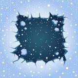 Ρωγμή πάγου ορθογώνια απεικόνιση αποθεμάτων