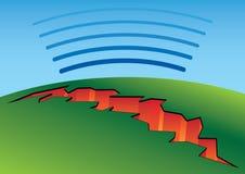 Ρωγμή σεισμού απεικόνιση αποθεμάτων