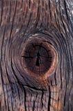 Ρωγμή στο τέμνον ξύλο υποβάθρου ως κλειδαρότρυπα Στοκ Εικόνα