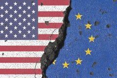 Ρωγμή της Αμερικής και της Ευρώπης Στοκ φωτογραφία με δικαίωμα ελεύθερης χρήσης