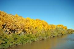 Ρωγμή του Rio Grande το φθινόπωρο στοκ εικόνα