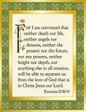 Ρωμαίοι 8:3839 Στοκ Εικόνες