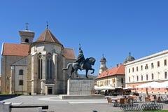 Ρωμαίος - καθολικός καθεδρικός ναός, και ορθόδοξος καθεδρικός ναός Στοκ Εικόνες