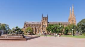 Ρωμαίος - καθολικός καθεδρικός ναός του ST Mary στο Σίδνεϊ, Αυστραλία Στοκ εικόνα με δικαίωμα ελεύθερης χρήσης