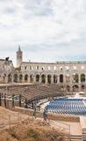 Ρωμαίος amphitheate. Pula, Κροατία Στοκ Εικόνες