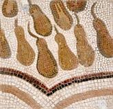 Ρωμαϊκά κεραμίδια μωσαϊκών, λεπτομέρεια του αρχαίου τοίχου που διακοσμείται ιστορικού Στοκ Εικόνες