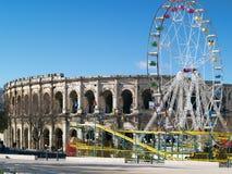 Ρωμαϊκά Coliseum - Νιμ, Γαλλία Στοκ Φωτογραφία