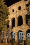 Ρωμαϊκά pula Κροατία αμφιθεάτρων αντιγράφου Στοκ Εικόνες