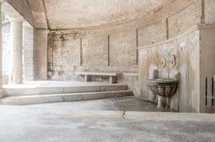 Ρωμαϊκά thermae στοκ εικόνα