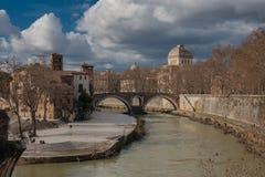 Ρωμαϊκές γέφυρες Fabricius γεφυρών Στοκ Εικόνες