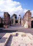 Ρωμαϊκές καταστροφές βιλών, Πομπηία Στοκ Φωτογραφίες