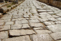 Ρωμαϊκές καταστροφές σε Jerash, Ιορδανία. στοκ φωτογραφία
