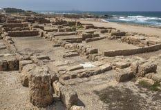 Ρωμαϊκές καταστροφές στην Καισάρεια Maritima Στοκ Εικόνες