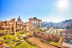 ρωμαϊκές καταστροφές της Ρώμης φόρουμ στοκ εικόνα με δικαίωμα ελεύθερης χρήσης