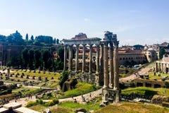 ρωμαϊκές καταστροφές της Ρώμης φόρουμ Στοκ εικόνες με δικαίωμα ελεύθερης χρήσης