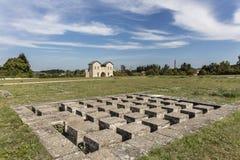 Ρωμαϊκές καταστροφές του castel Biriciana Στοκ Φωτογραφίες