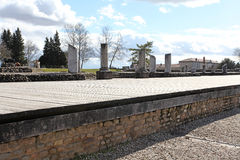 Ρωμαϊκές καταστροφές του Gallo στη Λυών, Γαλλία Στοκ Εικόνες