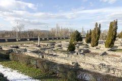 Ρωμαϊκές καταστροφές Aquincum Στοκ Φωτογραφίες