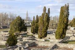 Ρωμαϊκές καταστροφές Aquincum Στοκ Εικόνα