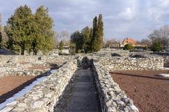 Ρωμαϊκές καταστροφές Aquincum Στοκ εικόνα με δικαίωμα ελεύθερης χρήσης