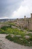 Ρωμαϊκές καταστροφές Jerash Στοκ Φωτογραφίες