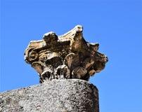 Ρωμαϊκές καταστροφές Mérida Ισπανία - αρχαίοι θησαυροί στοκ εικόνα