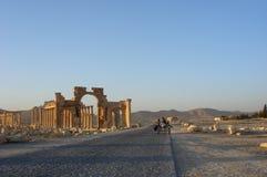 ρωμαϊκές καταστροφές palmyra Στοκ Εικόνες