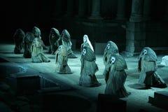 Ρωμαϊκή απόδοση φεστιβάλ θεάτρων του Μέριντα Στοκ Φωτογραφία