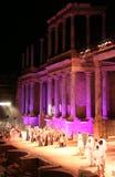 Ρωμαϊκή απόδοση φεστιβάλ θεάτρων του Μέριντα Στοκ Εικόνα