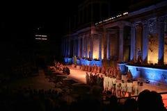 Ρωμαϊκή απόδοση φεστιβάλ θεάτρων του Μέριντα Στοκ φωτογραφία με δικαίωμα ελεύθερης χρήσης