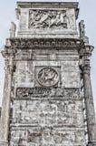 Ρωμαϊκή αψίδα των ανακουφίσεων δυτικών πλευρών του Constantine Στοκ Εικόνες