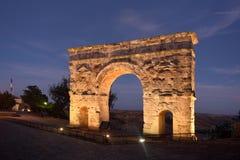 Ρωμαϊκή αψίδα Medinaceli, 2$ος-3$ος αιώνας, Soria επαρχία, ασβέστιο Στοκ Εικόνες