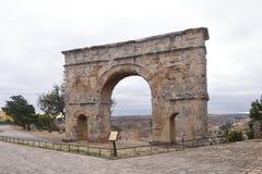 Ρωμαϊκή αψίδα Medinaceli, 2$ος-3$ος αιώνας, Soria επαρχία, ασβέστιο Στοκ Εικόνα