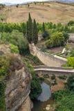 Ρωμαϊκή γέφυρα, Ronda Στοκ φωτογραφίες με δικαίωμα ελεύθερης χρήσης
