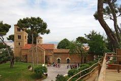 Ρωμαϊκή εκκλησία σε Poble Espanyol, Βαρκελώνη Στοκ Εικόνες