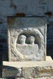 Ρωμαϊκή πέτρα τάφων Antic στο χωριό Rosia Μοντάνα, Τρανσυλβανία Στοκ εικόνα με δικαίωμα ελεύθερης χρήσης