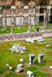 ρωμαϊκή Ρώμη φόρουμ όψη της Ιτ&alph στοκ εικόνα